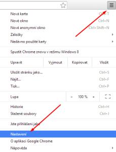 google chrom nastaven